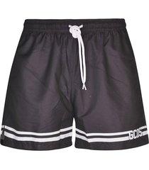 gcds stripe detail logo shorts