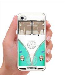 vw vintage mint mini bus iphone case - rubber silicone iphone 5 case
