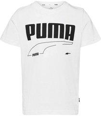 rebel tee b t-shirts short-sleeved vit puma