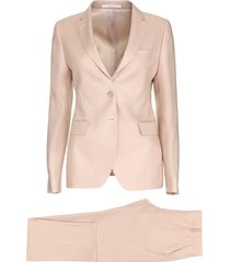 stretch linen two piece suit