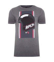t-shirt masculina helmet - cinza