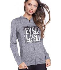 chaqueta basic two gris everlast
