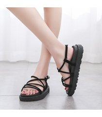 moda roma correa en sandalias para mujer sandalias de plataforma