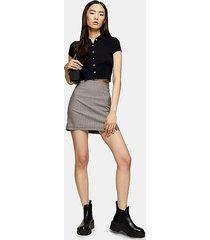 mini check stretch skirt - multi