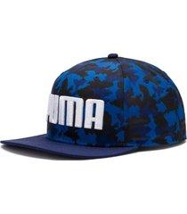 gorra azul  puma flatbrim