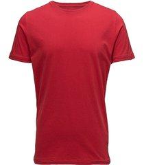alder basic tee - gots/vegan t-shirts short-sleeved röd knowledge cotton apparel