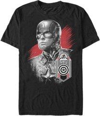 marvel men's avengers endgame dark painted captain america tag short sleeve t-shirt