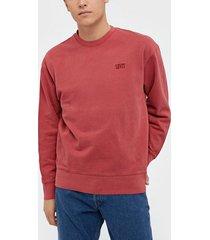levis authentic logo crewneck authen tröjor red