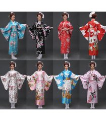 retro oriental japanese yukata kimono obi cosplay robe geisha dress sleepwear&.