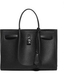 lanvin bogey medium leather tote bag