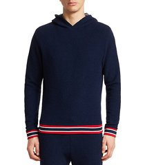 modern varsity stripe french terry hoodie