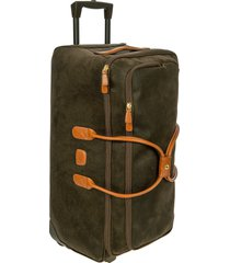 bric's brics life collection 28-inch rolling duffle bag in olive at nordstrom