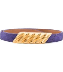 hermès 1985 pre-owned slip-on belt - purple