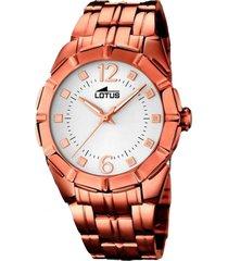 reloj trendy naranja lotus