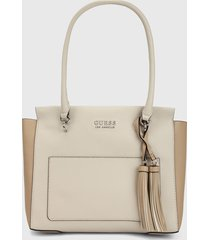 bolso beige-camel guess