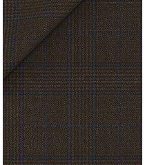 giacca da uomo su misura, vitale barberis canonico, principe di galles pura lana marrone, quattro stagioni | lanieri