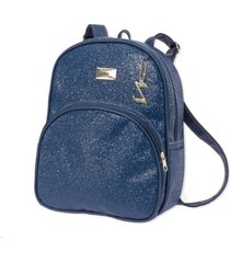 mochila maternidade star marinho - 1 peça