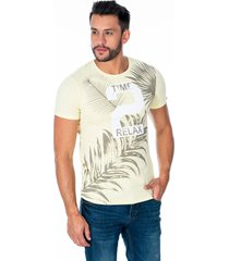 camiseta beige para hombre time 2 relax