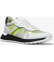 mk sneaker miles in materiale misto - bianco ottico (bianco) - michael kors