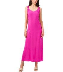 women's vince camuto gathered strap maxi dress, size medium - pink