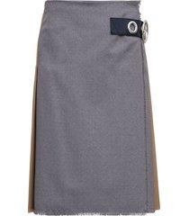 marni bicolor wool skirt with side belt