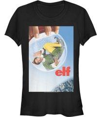 fifth sun elf snow globe poster women's short sleeve t-shirt