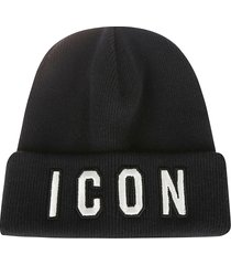 dsquared2 icon knit beanie