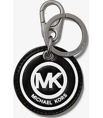 mk portachiavi con stampa logo - nero (nero) - michael kors