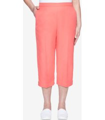 alfred dunner women's missy look on the brightside grommet trim capri pants