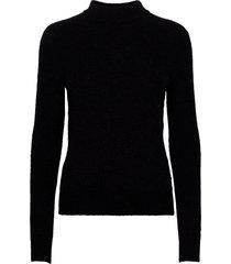 cora turtleneck pullover stickad tröja svart sparkz copenhagen