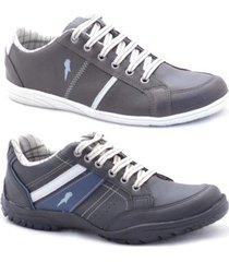 kit sapatênis polo blu casual masculino - masculino