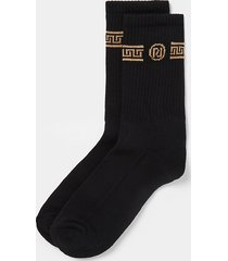 river island mens black greek print socks