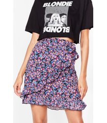 womens somewhere only we grow floral mini skirt - purple