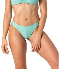 calcinha biquíni asa delta cintura alta franzido piscina - feminino