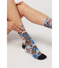 calzedonia short digital disney print socks woman multicolor size tu