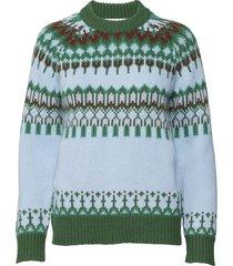 bonfire sweater stickad tröja multi/mönstrad cathrine hammel