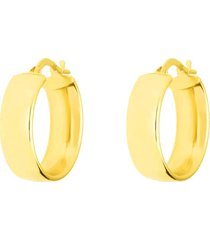 orecchini a cerchio in oro giallo mezzo tondo per donna