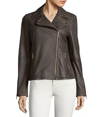 skylar leather biker jacket