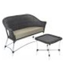 sofá roma e 1 mesa de área varanda jardim edícula preto estonado a11