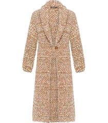 casaco feminino tricot marie - marrom