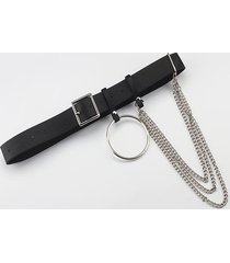 circle chain square buckle waist belt