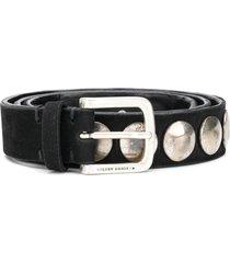 golden goose studded belt - black