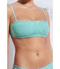 calzedonia bandeau swimsuit top malaga woman green size 4