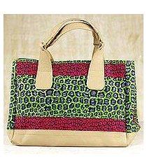 cotton handbag, 'selem' (ghana)