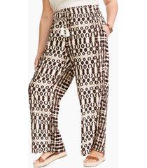inc plus size double-elastic-waist pants, created for macy's