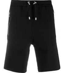 balmain black cotton shorts