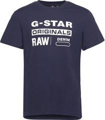 graphic 8 r t s\s t-shirts short-sleeved blå g-star raw