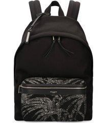 saint laurent city canvas backpack