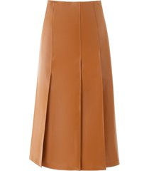 a.w.a.k.e. mode faux leather panel skirt