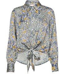 brennakb shirt långärmad skjorta multi/mönstrad karen by simonsen